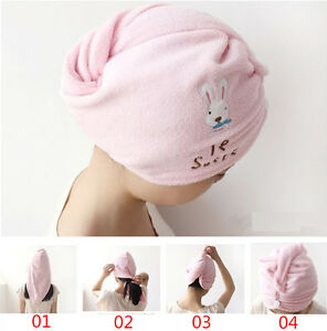Magic Microfiber Bath Towel Hair Dry Hat Cap Quick Drying Lady's Bath Tool Soft