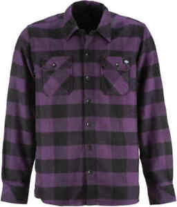 Dickies-Men-039-s-PL-Plum-Plaid-Sacramento-L-S-Flannel-Shirt-Retail-44-99