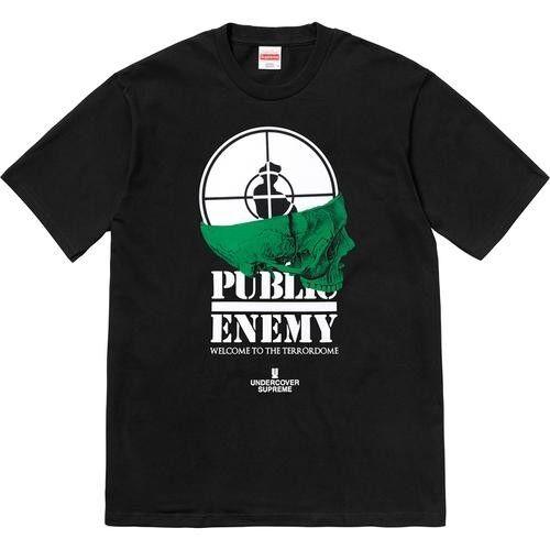 Supreme sotto copertura Public Public Public Enemy terrore Dome tè nero nero medium M d2c1dc