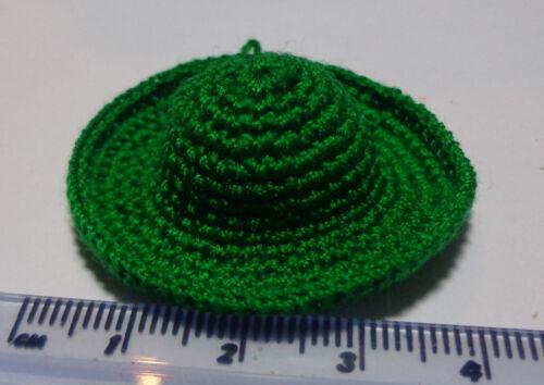 verde Escala 1:12 señoras Crochet Sombrero Verde Casa de muñecas en miniatura