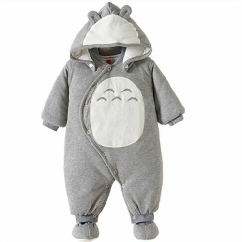 Baby Boy Clothes Newbon Quality 100% Cotton Hooded Rompers Cartoon Totoro Thick
