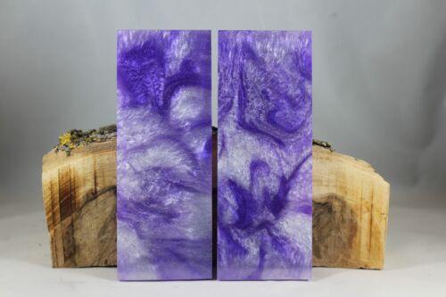 98 Cuchillo compuesto personalizado de Perla Púrpura material Mango escalas en blanco