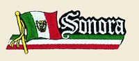 Sonora Mexico Patch Bandera Flag Banner