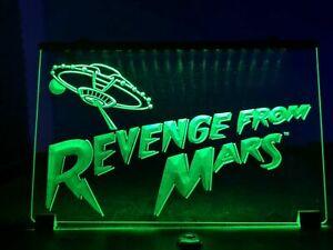 Revenge from Mars Pinball Game Backglass LED Sign Light Topper