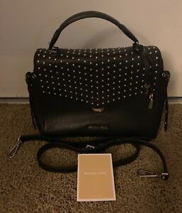 03f2429597a7 Image is loading Michael-Kors-Bristol-Studded-Top-Handle-Medium-Satchel-