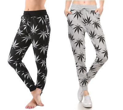 Comfy Cannabis Marijuana Leaf Printed Jogger Jogging Sweat Pants 420 S//M//L//XL
