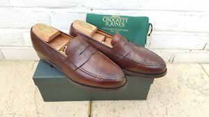 a681f37b8a4 Crockett   Jones Boston Dark Brown Country Calf Grain Leather Loafer ...