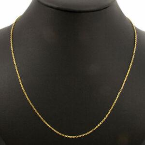 Messing vergoldet Halskette Ankerkette Durchmesser 2 mm Länge 45 cm
