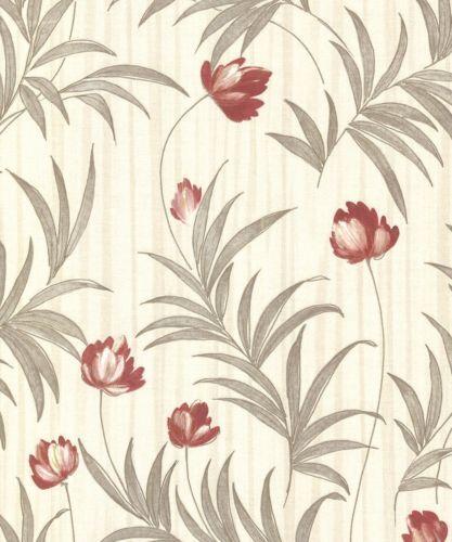 Luxury Belgravia Decor Flavia Wallpaper Italian Vinyl Floral Trail GB2148-A