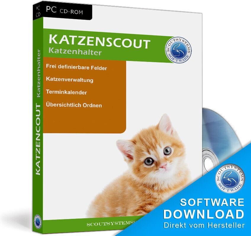 Gatti, razza gestione Gatti, per gatti proprietario, Katzenscout supporto CD, informatica