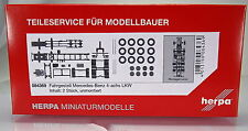 Herpa LKW  084369  Fahrgestell Mercedes-Benz 4-achs LKW Inhalt: 2 Stück