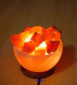 Sel Lampe Père's Jour Cadeau Unique Fire Bol Panier De Guérison Ionisant De L'himalaya-afficher Le Titre D'origine