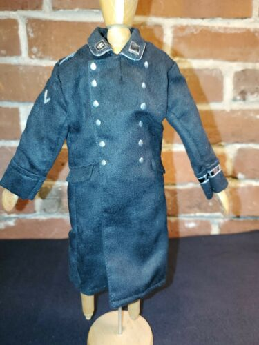 """WWII German SS Private Long Dress Coat Accessories for 12/"""" Action Figure 1:6 scl"""