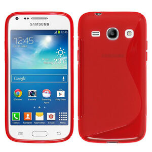 Details about Housse Etui Coque Silicone ROUGE Samsung Galaxy Core Plus G3500 Trend 3 G3502