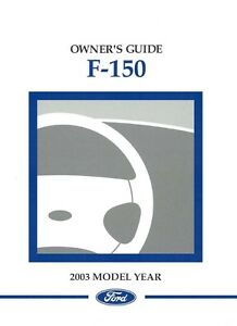 ford  truck owners manual user guide ebay