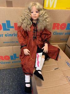 Andrea Zimmermann-Brugg Künstlerpuppe Porzellan Puppe 73 cm. Top Zustand