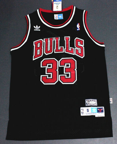 Retro Scottie Pippen #33 Chicago Bulls Basketball Jersey Stitched Black