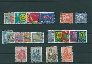 Suisse-Suisse-Vintage-Yearset-1961-Timbres-Used-Complet-Sh-Boutique
