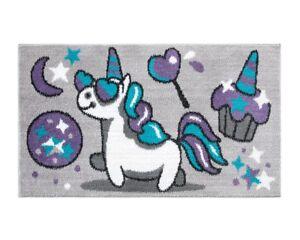 Tappeto-cameretta-unicorno-stelle-80X140-cm-bambini-bimba-morbido-shaggy-camera