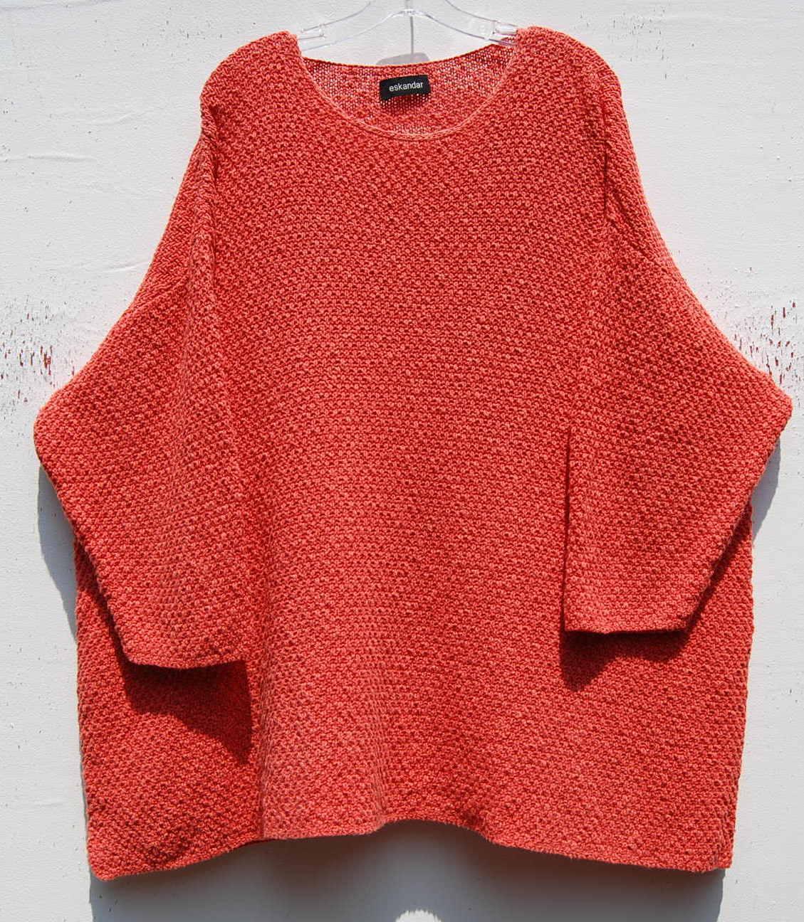 Eskandar  handloomed con textura de peso pesado cotton linen suéter de sistema operativo  1090  buen precio