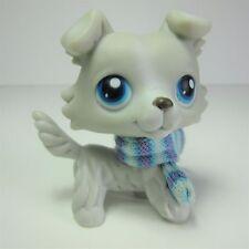Littlest Pet Shop # 363 grey collie scarf dog blue eyes LPS #363 gray puppy