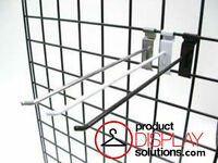 Box 50 Or 100 | 12 Inch Grid Gridwall Hooks | Options: Black, White Or Chrome