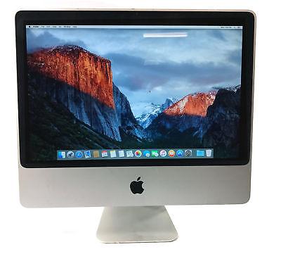 "Apple A1224 20"" Imac Mb323ll/a Imac8,1 C2d 2.4ghz 2gb Ram 250gb El Capitan"
