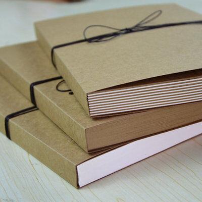 "7.3x10.2"" Kraft JOURNAL Sketchbook drawing Notebook incl. cords bookmarks pencil"