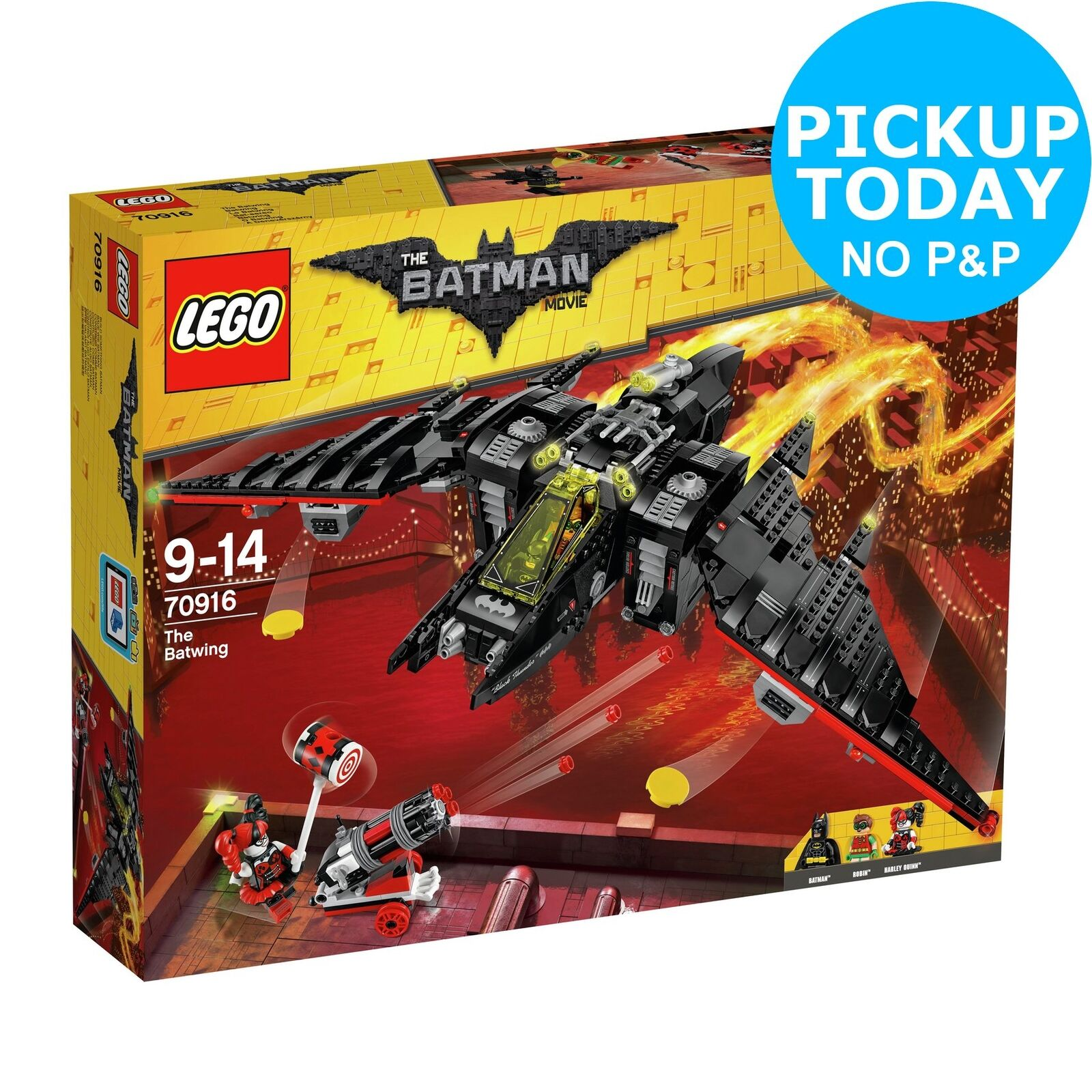 Lego The Batman Batwing Vehicle Playset 9 Years 70916 Movie