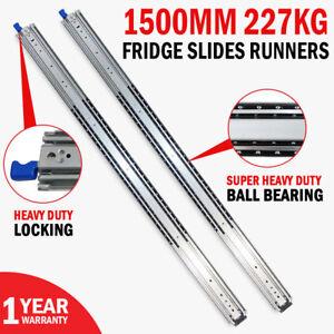 Fridge Runners Heavy Duty 559mm 227kg Locking Drawer Slides Cargo Trailers