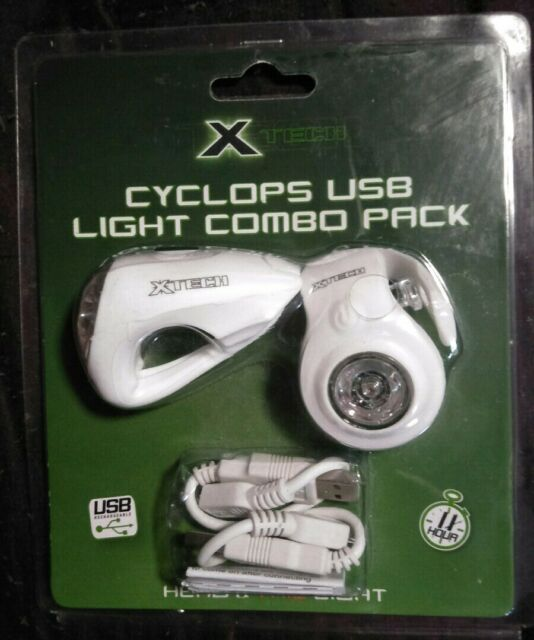 X Tech Cyclops USB Combo Lights White