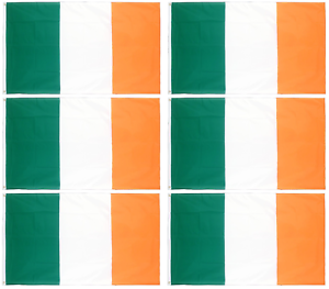 6 x Irish Flags 5ft x 3ft St Patricks Day Decoration Ireland 150cm x 90cm QR35