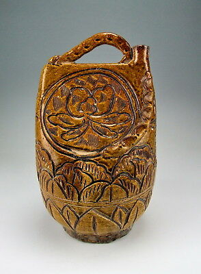 Chinese Antique Shouzhou Ware Porcelain Wine Pot W Handles
