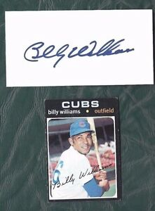 1971 Topps baseball card #350 Billy Williams Chicago Cubs VGEX  + cut signature