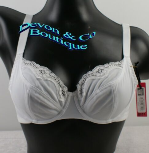 Mesdames 3 Soft Cup Soutien-gorge blanc rouge /& noir armatures 38B Lot8