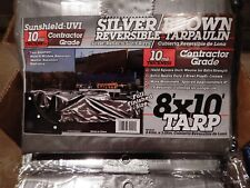DEWITT Heavy Duty BROWN/SILVER Poly Tarp Cover 8FT X 10FT
