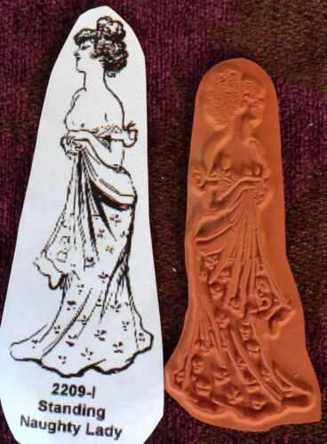 Unmounted Rubber Stamp Standing Naughty Lady..