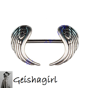Image Is Loading Angel Wings Shield Cover Rings Body Piercing
