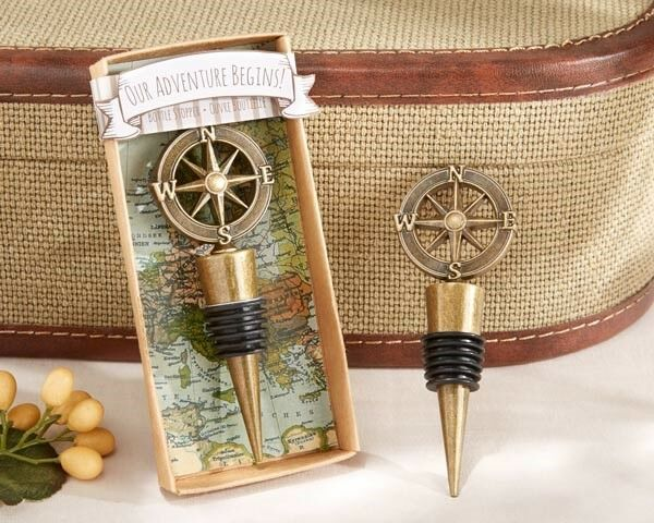 50 Our Adventure Begins Wine Bottle Stopper Wedding Bridal Shower Party Favors