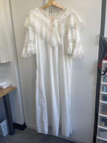 Antique Dress Nightgown Victorian Edwardian Cotton
