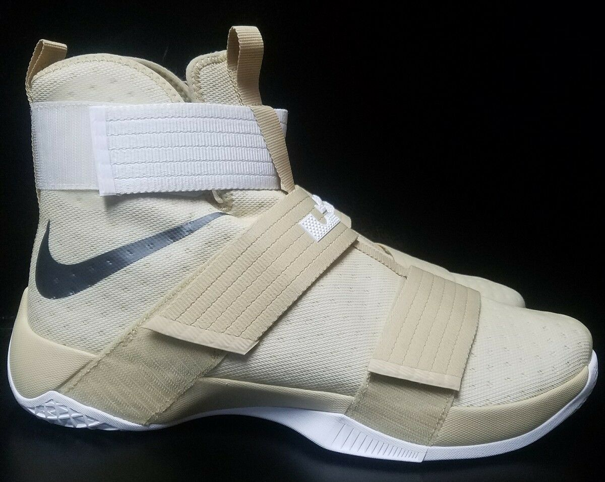 Nike Lebron LBJ Soldier 10 TB Promo gold Basketball Men shoes 856489-701 Size 16