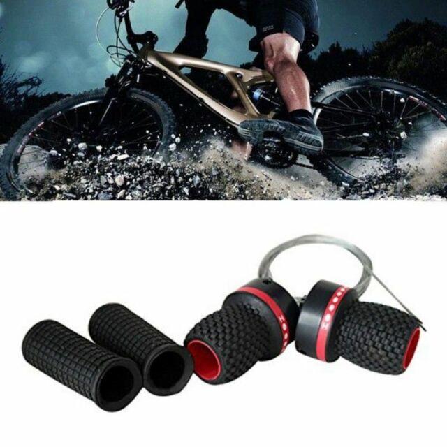 Rubber Bike Bicycle Speed Shifter Derailleur Handle Twist Grip Gear Shift Red US