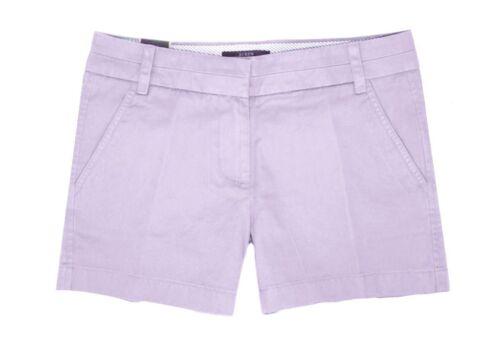 Lavender donna cotone Cotton lavato crew Chino Purple J 4 Pantaloncini da Nwt 14 in viola Shorts Chino xqIYfY71w