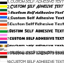 Custom Text Self Adhesive Stickers Lettering Sign-making Sign writing Letters
