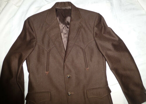 Vintage CIRCLE S Men's Ranch Western Suit Chocola… - image 1