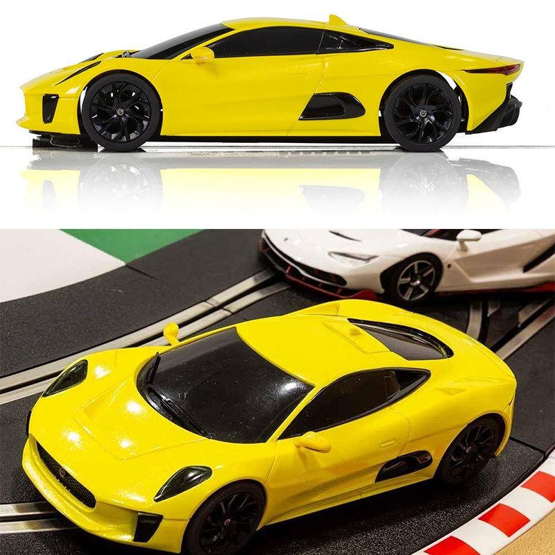 SCALEXTRIC Digital ARC Pro Slot Car Jaguar CX-75 - Metallic Yellow C1388