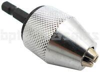 1/4 Inch Keyless Drill Bit Chuck Quick Change Adapter Converter Hex Shank