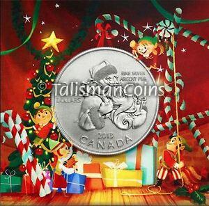 Canada 2013 $20 Commemorative Santa Claus Holiday Pure Silver Specimen Finish