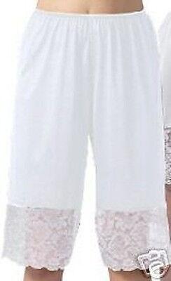 Nylon Pettipants Lace trim 9-Inch Inseam 3 colors sizes S-3X