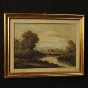Painting-Painting-Signed-on-Linen-Italian-Paesaggio-Antique-Style-Frame-900